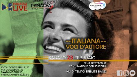 ITALIANA: VOCI D'AUTORE - 23 febbraio | PanaceaLIVE