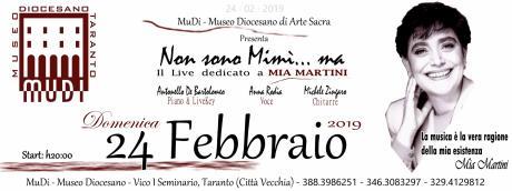 """""""Non sono Mimì... ma"""" Il Live dedicato a MIA MARTINI"""