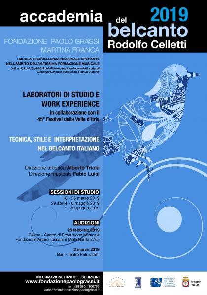 """Accademia del Belcanto """"Rodolfo Celletti"""" - Anno Accademico 2019"""