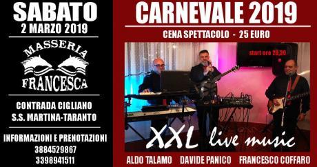 """Cena spettacolo """" Il sabato di """" carnevale"""" in  Masseria Francesca"""""""