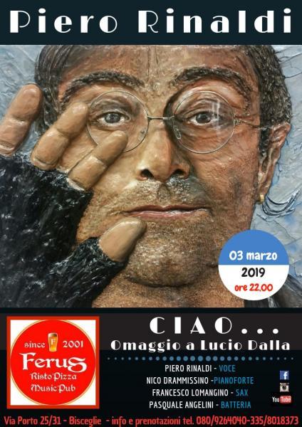"""LUCIO DALLA special tribute live @ FERUS con i """" CIAO """""""