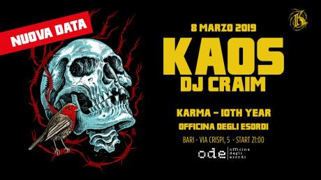 KAOS ONE & DJ CRAIM all'Officina degli Esordi di Bari