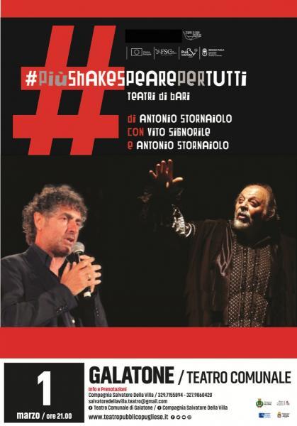 PiùShakespearepertutti con Antonio Stornaiolo e Vito Signorile