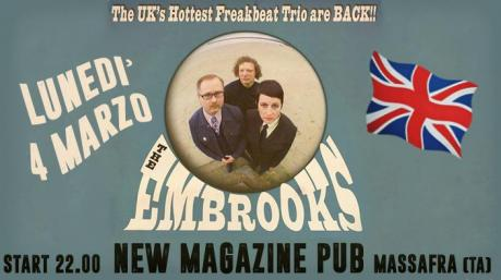 The Embrooks (UK) Freakbeat Trio live at New Magazine Pub