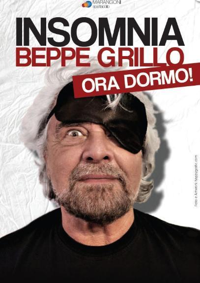 """Beppe Grillo in """"Insomnia... ora dormo!"""""""