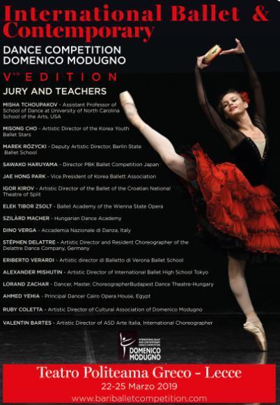 """GALA'- Concorso Internazionale danza classica e contemporanea """"Domenico Modugno"""""""