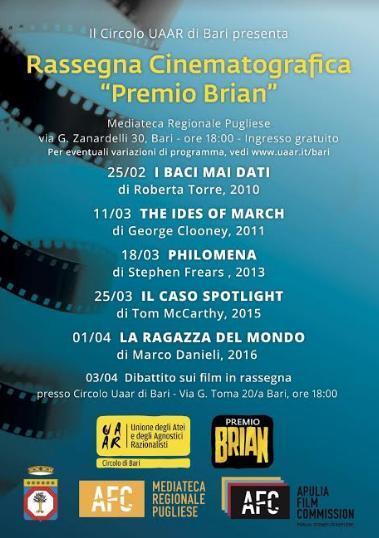 """""""Il caso Spotlight"""" di Tom McCarthy per il """"Premio Brian"""""""