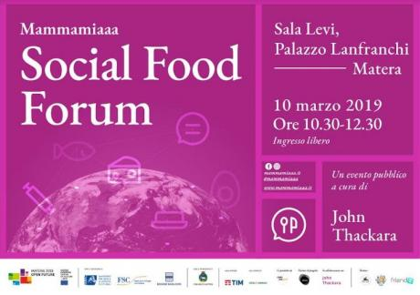 Matera 2019 - Social Food Forum