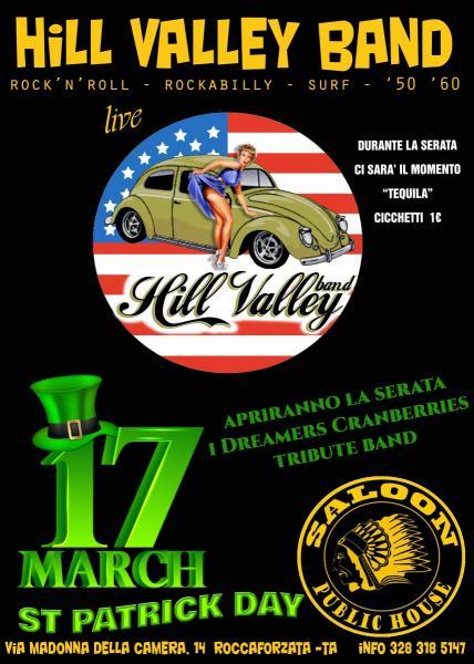 St Patrick Day al Saloon con la Hill Valley band   (Apriranno la serata i Dreamers Cranberries Tribute band)