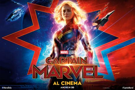 Sala1: CAPTAIN MARVEL (ore 19:00 e 21:00)