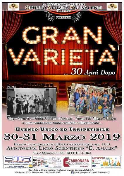 """GRAN VARIETA'... 30 Anni Dopo"""