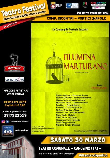 Teatro Festival - FILUMENA MARTURANO