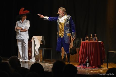 Una notte a teatro (da Il canto del cigno di A. Cechov)