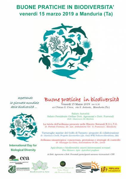 """Forum su """"Buone pratiche in biodiversità"""", venerdì 15 marzo a Manduria."""