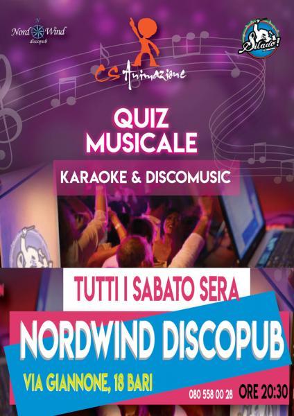 Quiz Musicale, Karaoke al Nordwind di Bari