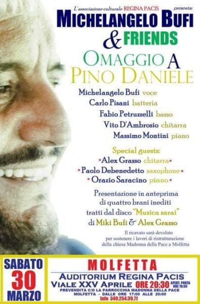 Michelangelo Bufi & Friends a Molfetta - Omaggio a Pino Daniele
