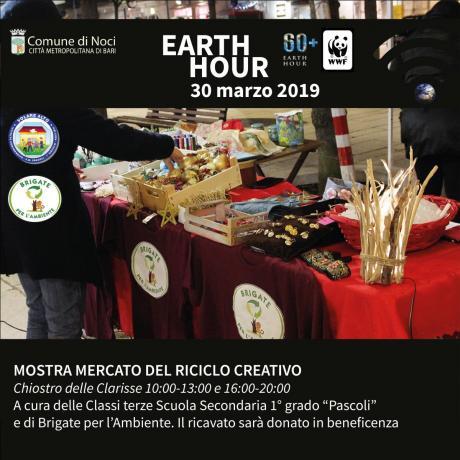 Earth Hour 2019. MOSTRA MERCATO DEL RICICLO CREATIVO