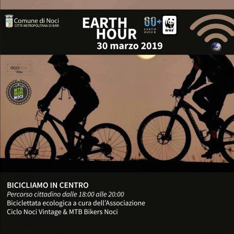 Earth Hour 2019. BICICLIAMO IN CENTRO