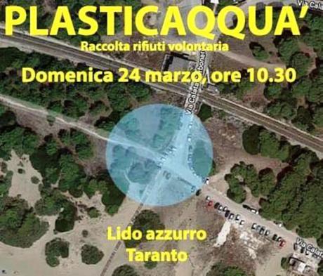 Raccolta rifiuti volontaria presso spiaggia Lido Azzurro - Plasticaqquà Taranto