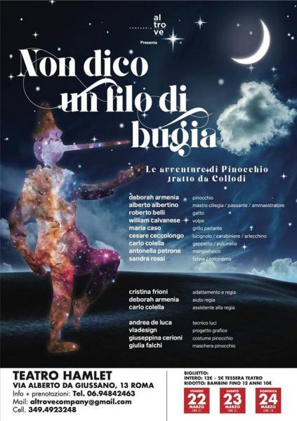 AL TEATRO HAMLET DEBUTTO PER 'NON DICO UN FILO DI BUGIA' – DAL 22 AL 24 MARZO
