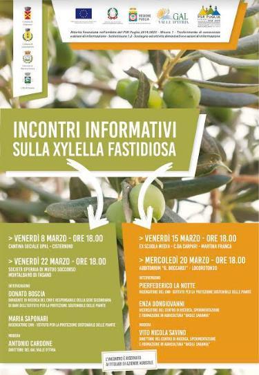 Incontri informativi sulla Xylella Fastidiosa