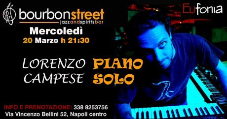 Live music-> Lorenzo Campese in piano solo@Bourbon Street