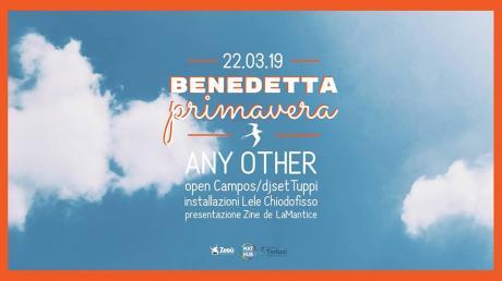 Benedetta Primavera: Any Other, Campos, Tuppi - MAT Terlizzi