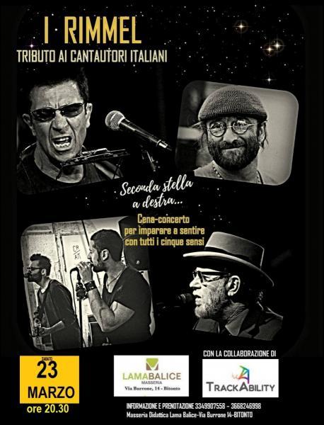 I Rimmel - Tributo ai Cantautori Italiani @ Masseria didattica LamaBalice (Bitonto)