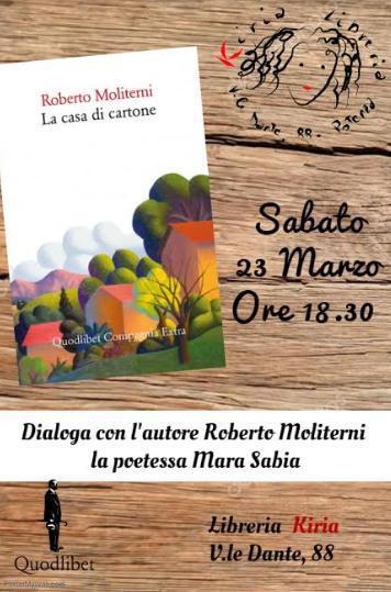 """Presentazione del libro """"La casa di cartone"""" di Roberto Moliterni"""