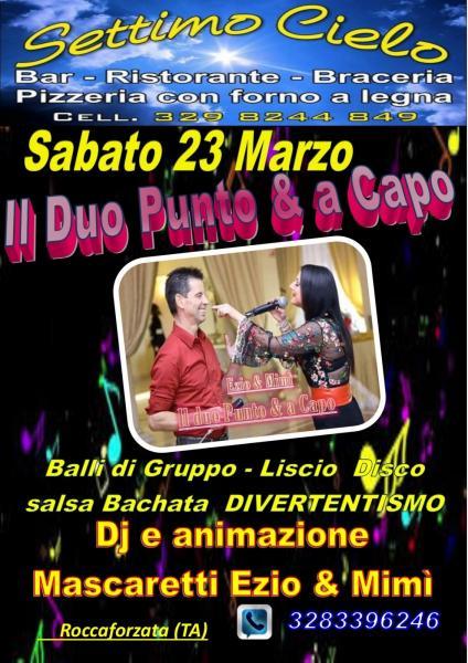 A Roccaforzata musica dal vivo... Balli di Gruppo, liscio, disco, salsa con dj Ezio Mascaretti e Mimì