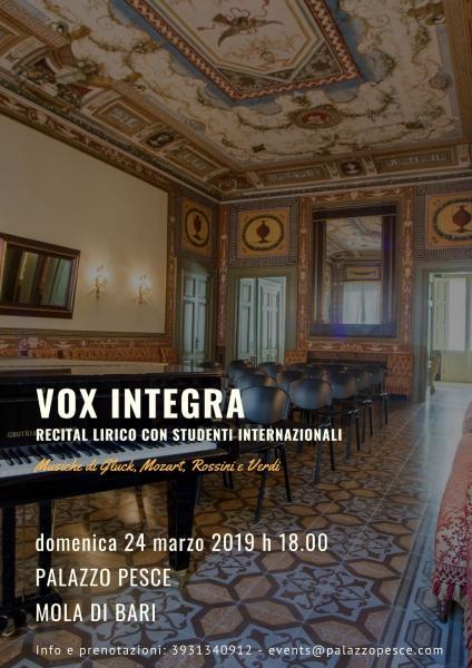 Vox Integra [recital lirico con studenti internazionali]