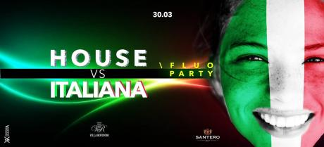 "sabato 30 marzo, Villa Rotondo presenta  il party targato ""House vs Italiana e Fluo party"" Lista Bari"
