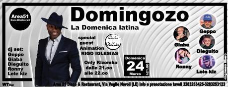 Domenica Latina all'Area 51. Ospite Rigo Igleasias, si balla con Geppo, Giaba, Ronny, Lele kiz e Dieguito