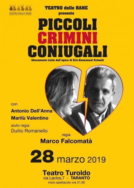"""""""PICCOLI CRIMINI CONIUGALI"""" - Festival Italia De Gennaro"""
