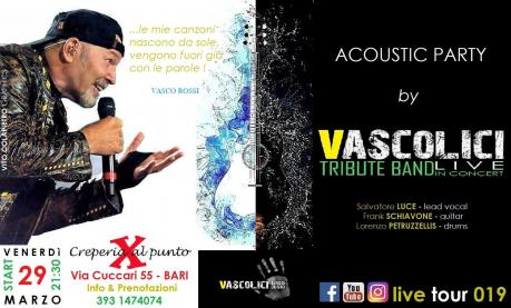 Vascolici Live Acoustic at Creperia al Punto X (Bari) 29/03/2019
