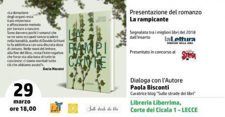 """Presentazione del libro """"La Rampicante"""" di Davide Grittani"""