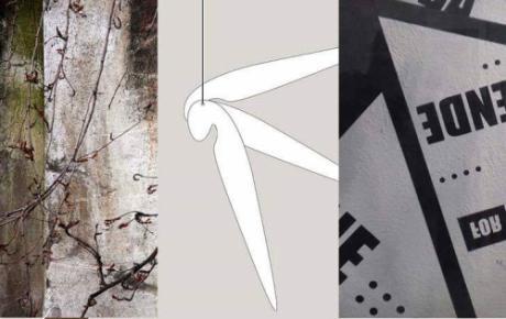 Da una trifora, sul cortile dell'attualità presso la Galleria Area24 space  - Napoli
