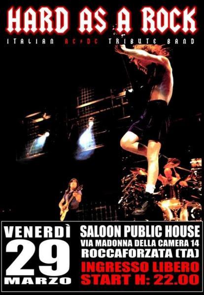 AC/DC Tribute Hard As A Rock at Saloon, Roccaforzata TA