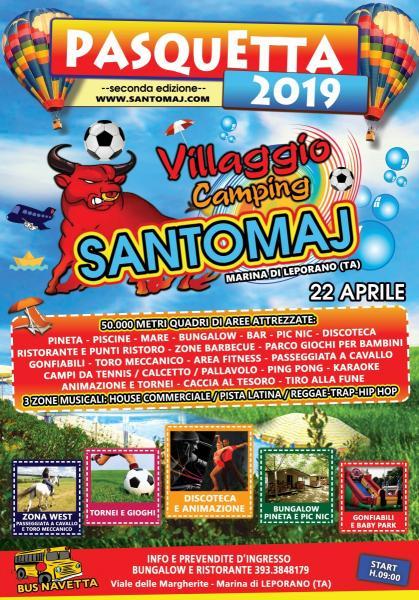 Pasquetta 2019 Villaggio Camping Santomaj - Marina di Leporano (TA)