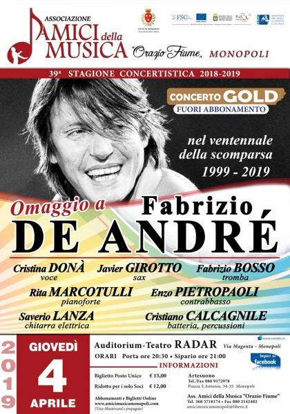 Omaggio a Fabrizio De Andre