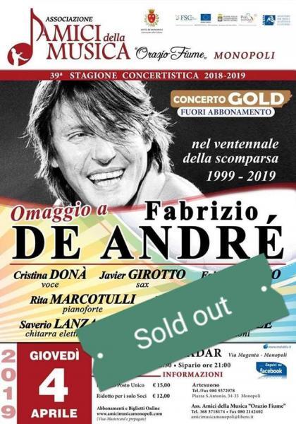 Omaggio a Fabrizio De Andre (Sold Out)