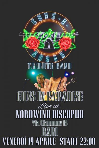 Guns In Paradise - Guns n' Roses tribute band in concerto al Nordwind