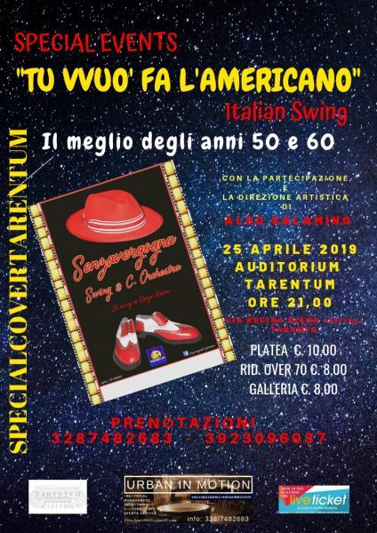 """TU VVUO' FA L'AMERICANO"" Italian swing"