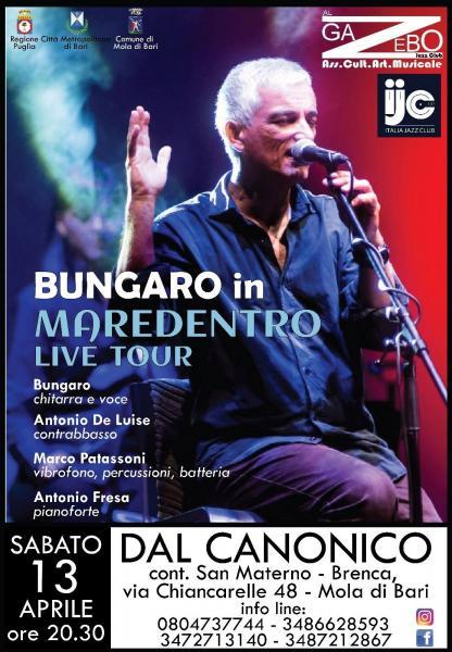 Bungaro in Maredentro Live Tour