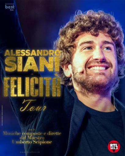 """Alessandro Siani sul palco di Lecce con il """"Felicità Tour"""" - SOLD OUT"""