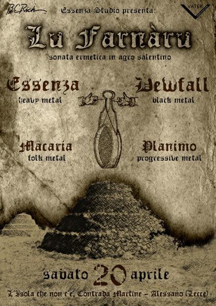 Farnàru metal fest: Essenza, Dewfall, Macaria e Planimo...LIVE