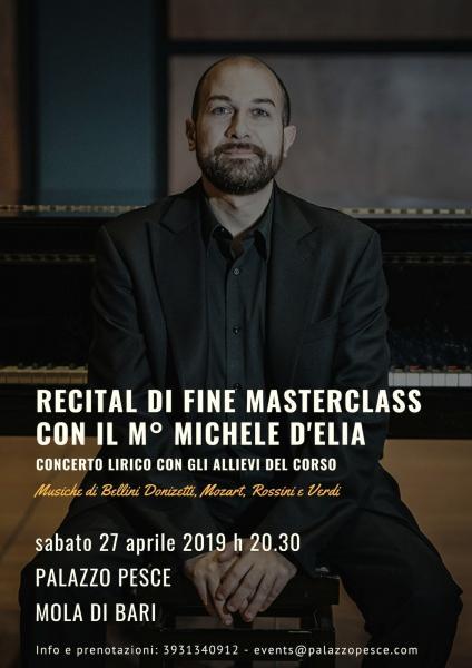 Recital lirico di fine Masterclass con Michele D'Elia