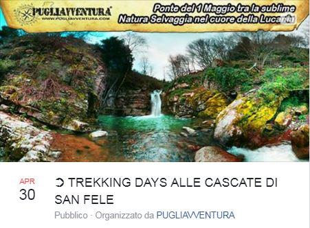 TREKKING DAYS ALLE CASCATE DI SAN FELE: spettacolo Naturale di rara bellezza