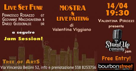 Live music & painting, mostra, stand up comedy-Napoli centro 14 Aprile