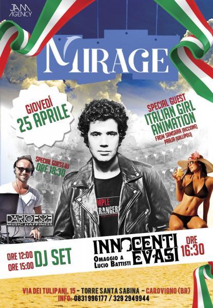La Festa del 25 Aprile at Mirage (Torre Santa Sabina)
